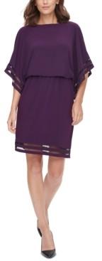 Jessica Howard Petite Illusion-Detail Blouson Dress