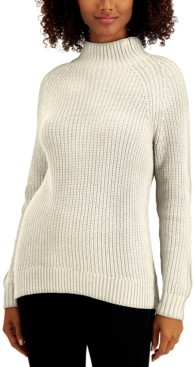 Style&Co. Style & Co Cotton Mock-Neck Sweater, Created for Macy's