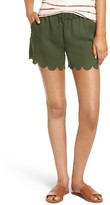 Madewell Women's Scallop Hem Pull-On Shorts