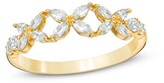 Zales 3/4 CT. T.W. Diamond Flower Wedding Band in 14K Gold (H/SI2)