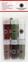 Martha Stewart Christmas Glitter Collection Crafts 6 Glitter Set 40-34022