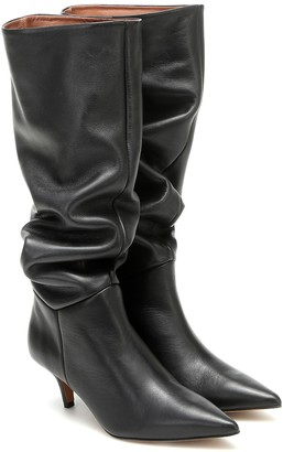 Souliers Martinez Elena leather knee-high boots