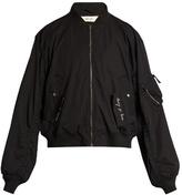 Damir Doma Ring-detail Oversized Cotton Bomber Jacket