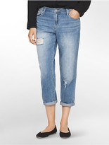 Calvin Klein Boyfriend Fit Destroyed Ankle Jeans