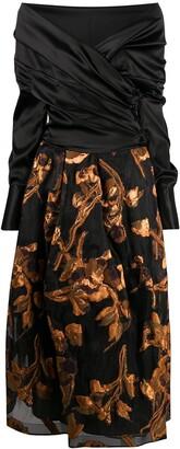 Sara Roka Zaki off-shoulder wrap dress