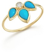 Chicco Zoë 14K Yellow Gold Ring with Turquoise and Diamond
