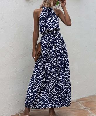 Amasoo Women's Maxi Dresses royal - Royal Blue Sleeveless Blouson Maxi Dress - Women & Juniors