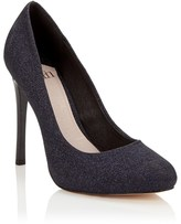 Faith Glitter Wide Platform Courts