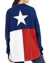 Royce Texas Flag Long-Sleeve Sweeper Top
