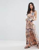 Free People Other Days Printed Slit Maxi Dress