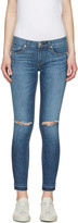 Rag & Bone Blue Capri Jeans