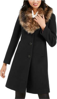 Kate Spade Faux-Fur-Trim Coat