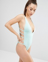 Wolfwhistle Wolf & Whistle Textured Mint Swimsuit B/C - E/F Cup