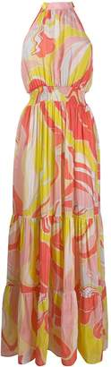 Emilio Pucci sleeveless floral maxi dress