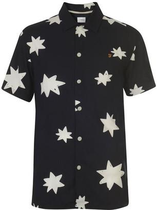 Farah Star Print Shirt Mens