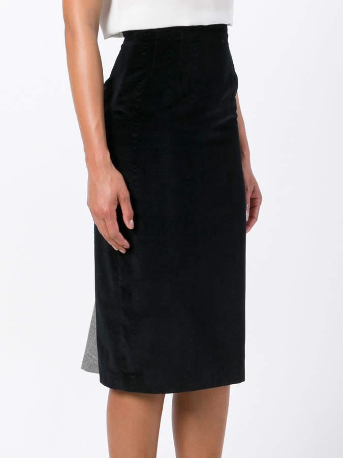 Olympia Le-Tan Constance velvet skirt