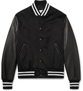 GoldenBear Golden Bear - Leather And Wool Bomber Jacket - Black