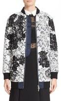 Self-Portrait Women's Two-Tone Lace Bomber Jacket