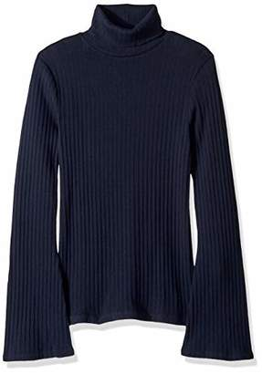 J.Crew Mercantile Women's Ribbed Flare Sleeve Turtleneck Sweater
