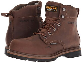 Carolina 6 Waterproof Work Boot CA9536 (Mohawk RW/Brown Leather Upper) Men's Work Boots
