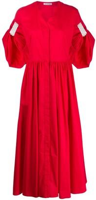 VIVETTA Pearl-Embellished Shirt Dress