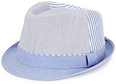 Daniel Cremieux Chambray Solid/Striped Fedora