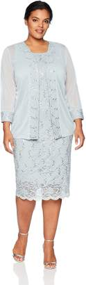 Tiana B T I A N A B. Women's Plus Size lace Trim Jacket Dress
