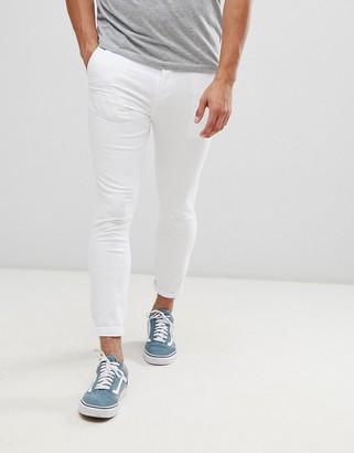Asos Design DESIGN super skinny cropped chinos in white