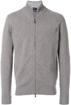 Hackett funnel neck zipped cardigan