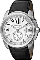 Cartier Men's W7100037 De Leather Strap Dial Watch