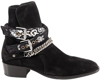 Amiri Buckle Embellished Ankle Boots