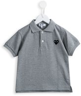 Comme Des Garçons Play Kids - heart patch polo shirt - kids - Cotton - 2 yrs