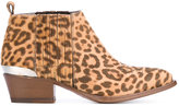 Buttero animal print ankle boots