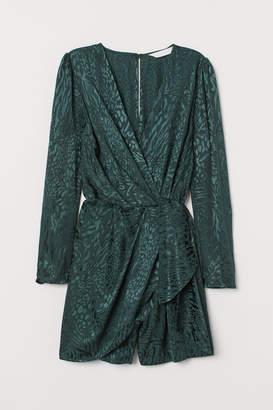H&M Jacquard-weave Jumpsuit - Green