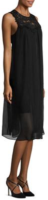 Shoshanna Lace Panel Shift Dress