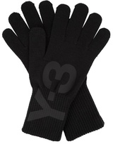 Y-3 Logo-printed Knitted Gloves
