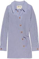 Awake Striped Cotton-poplin Shirt - Blue