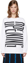 Opening Ceremony White Graphic Logo Pullover