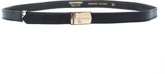 DSQUARED2 Black Leather Belt 85CM