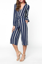 Everly Cropped Print Jumpsuit