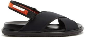 Marni Fussbett Technical-canvas Sandals - Black