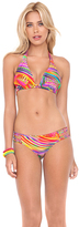 Luli Fama Dreamin D-DD Cup Triangle Halter In Multicolor (L443073)
