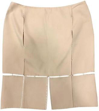 Prada Ecru Wool Skirt for Women Vintage