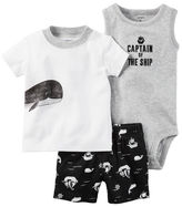 Carter's 3-Piece Little Matey Babysoft Short Set