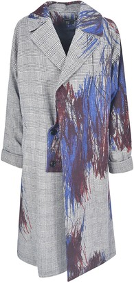 Y's Ys Check Painted Coat