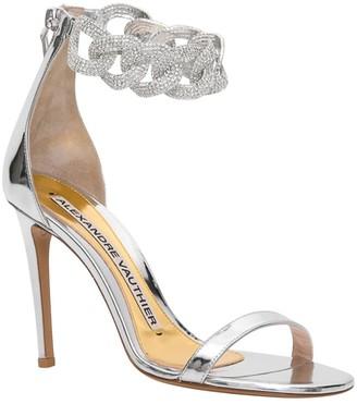 Alexandre Vauthier Silver Elsa Sandals