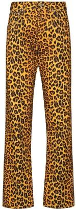 Kwaidan Editions Leopard Print Jeans
