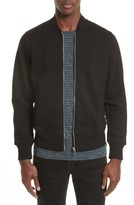 Paul Smith Men's Organic Cotton Jersey Sweatshirt Bomber Jacket