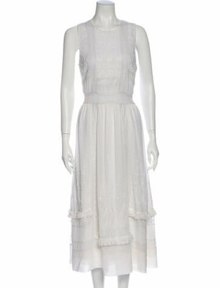 Ulla Johnson Silk Long Dress White