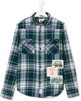 American Outfitters Kids checked appliqué patch shirt